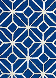 Trina Turk fabric, Trellis print, marine