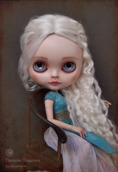 """I saw this on my daughter's board and said, """"That looks like a character from GoT."""" Then I looked closely, and saw the name! What an awesome job this person did to make her so recognizable!"""