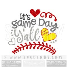 Its Game Day Yall SVG / softball svg softball shirts /