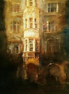 Jacek Jaroszewski- Lodz, ul.Piotrkowska 113, watercolour, gouache 50x36cm, 2016