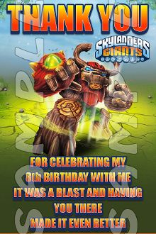 SKYLANDERS GIANTS 4X6 THANK YOU NOTES (WITH ENVELOPES)$21.00