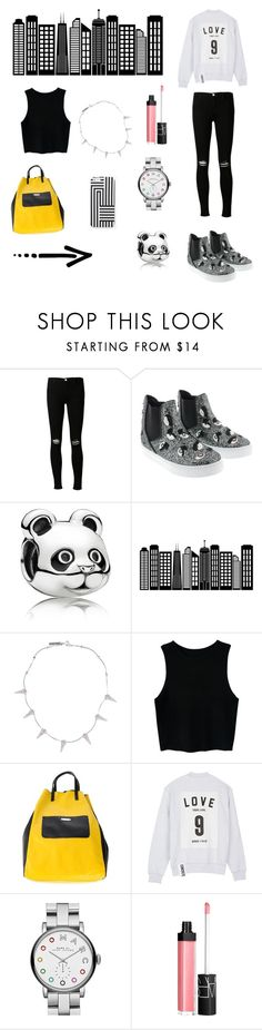 """""""Town"""" by luciboys ❤ liked on Polyvore featuring J Brand, Chiara Ferragni, Pandora, Kate Spade Saturday, WALL, Eddie Borgo, White in 8, Studio Concrete, Marc by Marc Jacobs and NARS Cosmetics"""