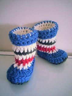 Handmade Crochet Baby/Kids Booties Slippers by hookata on Etsy