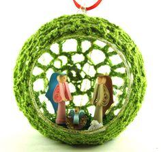Christmas ornament , tree ornament , quill christmas ornament , nativity ornament , christmas glass ornament , crochet ornament