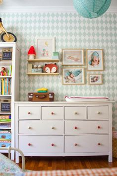 So many good ideas to steal in this room! Martina and Lola's Sweet Shared Space Nursery Tour Deco Kids, Bright Rooms, Kids Decor, Home Decor, Nursery Inspiration, Design Inspiration, Kid Spaces, Kids Bedroom, Kids Rooms