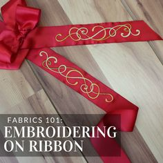 Get tips and tricks for adding machine embroidery to ribbon from Embroidery…