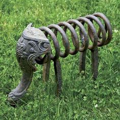 Photo: Denise Sfraga | thisoldhouse.com | from Turn Salvaged Junk Into Garden Ornaments