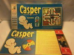 "VINTAGE ""Casper the friendly ghost"" milton bradley board game1959"