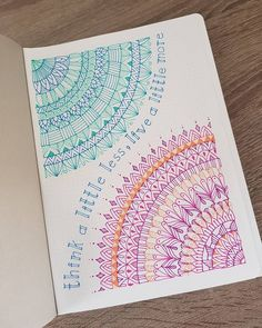 Think a little less, live a little Doodle Art Drawing, Drawing Quotes, Cool Art Drawings, Mandala Drawing, Art Drawings Sketches, Flower Drawings, Zen Doodle, Bullet Journal Art, Bullet Journal Ideas Pages