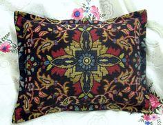 Ralph LAUREN Fabric POET SOCIETY 12x16 BOUDOIR Sham Tapestry Center Crest