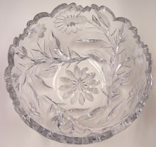 Libbey Brilliant Cut Glass Bowl, Signed