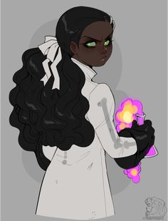 Informally introducing James's little sister, Jasmine. She's a necromancer just like her bro, but instead of just playing with zombies, she uses science to make weird hybrid zombie monsters. Black Girl Cartoon, Black Girl Art, Black Women Art, Female Character Design, Character Design Inspiration, Character Art, Character Tropes, Pretty Art, Cute Art
