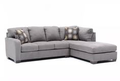 Zella Charcoal 2 Piece Sectional W/Raf Chaise - 360