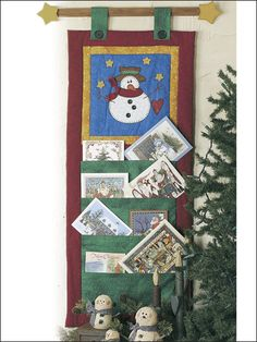 Quilting - Holiday & Seasonal Patterns - Christmas Patterns - Melt-Your-Heart Snowman Card Holder