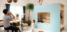This indoor hut is designed to be used as a small child's bedroom. Photo: SuMiKa