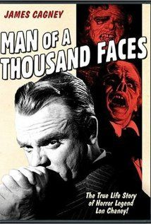 Man of a Thousand Faces (1957)  This is another truly great movie.  It's a biography of famous silent screen star Lon Chaney, the father of all modern makeup artists and a really remarkable man.  Definately one of the better James Cagney movies!