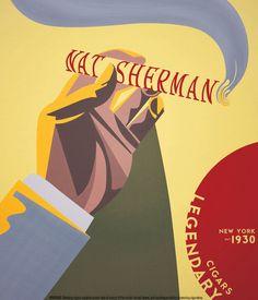 Nat Sherman Cigars - Vintage Cigar Posters (Vu dans Cigar Af)