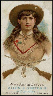 Miss Annie Oakley Allen & Ginter's Cigarettes tobacco card