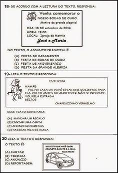Mistura de Alegria: Novembro 2014 Learn Portuguese, Teaching, Education, Literacy Activities, Kid Activities, Reading Activities, Text Types, Index Cards, Classroom