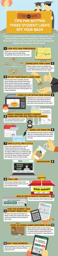 Someecards Tips For Getting Those Student Loans Off Your Back