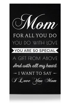 Gifts for Mom From Daughter or Son - Poems for Mothers Day Print Wall Art - Unique Prime Mothers Day Meaningful Quotes Gift Ideas