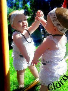 Baby girl. Mirror