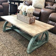 DIY Furniture Plans & Tutorials : Chalk painted vintage wagon wheel coffee table | rustic home funiture