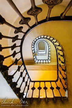 Spiralförmige Treppe in Wien Vienna, Austria