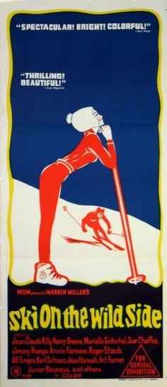 Ski on the Wild Side, 1967 - vintage movie poster (Australian daybill) for the documentary film by Warren Miller