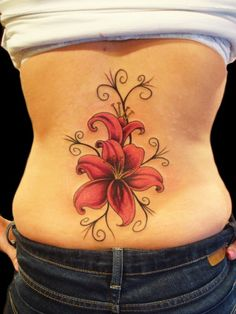 Flower-Tattoos-For-LA-Girls-On-Back-2