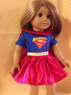 Supergirl outfit for American Girl dolls or by DollClothesbyAGrote