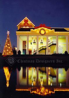 Elegant Christmas home.
