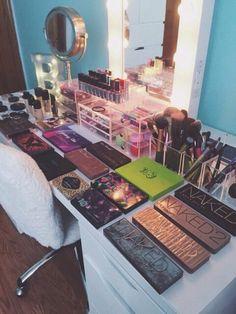A makeup room