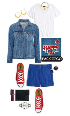 """Pack and Go: Labor Day"" by shortyluv718 ❤ liked on Polyvore featuring Topshop, Tomasini, BaubleBar, Madewell, Converse, J.Crew, Ultràchic, Movado and Packandgo"