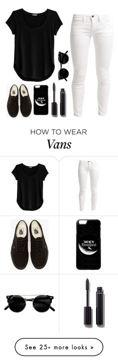 """black and white"" by tryn11 on Polyvore featuring Cosabella, Benetton, Vans and Chanel"
