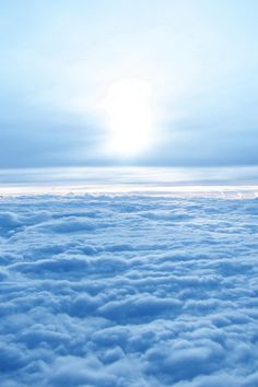 "#Blue #Sky #Clouds ~ ""Above the clouds"""