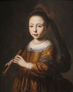 Portrait of Elizabeth Spiegel' (The Sense of Hearing) by Dirck Dircksz. Santvoort, 1639