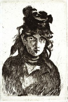 Édouard Manet  Berthe Morisot (1872)  Etching and drypoint on laid paper; first state of three