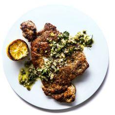 Pork Shoulder Cutlets with Fennel and Asparagus Salad Recipe - Bon Appétit
