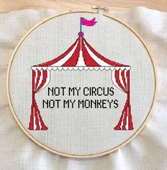 Not my circus Not my monkeys Cross Stitch Pattern by Melarty