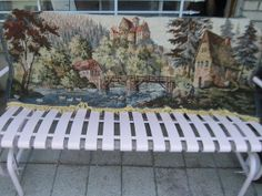 Pretty Vintage Tapestry Machine Made by Daysgonebytreasures, $30.00