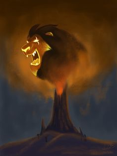 I made this to celebrate Scar's return in The Lion Guard: Rise of Scar. Somehow I imagined Scar's giant head soaring over a volcano, maybe because it made me think of Calamity Ganon in The Legend o...