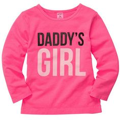 Carter's Long-Sleeve Daddy's Girl Tee