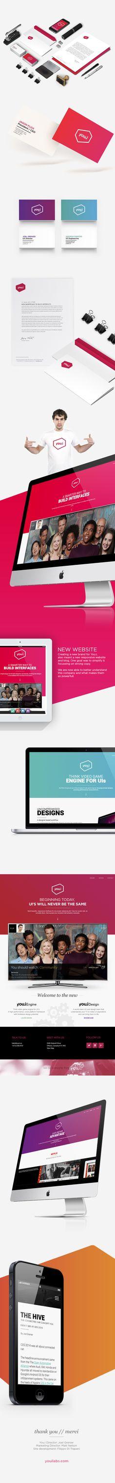 You.i - Rebrand by Pascal Potvin, via Behance