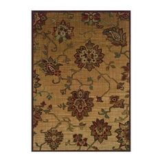 "Allure 054A 9'10"" x 12'9"" Beige Area Rug 