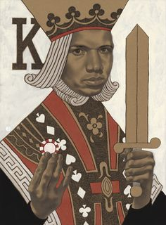 Portrait of poker king Phil Ivey for the July 2014 issue of Playboy Magazine.  © Edward Kinsella III