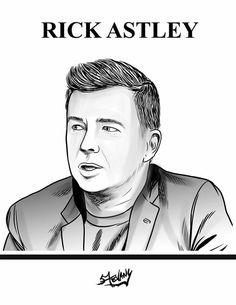 Rick Astley   Desenho por Stevany Art