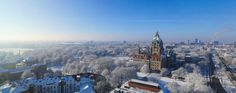 HANNOVER Rathaus Winter und Schnee by Michael Thomas hanover germany