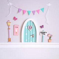 Christmas Gifts For Girls, Birthday Gifts For Girls, Girls Bedroom, Girl Room, Fairy Door Kit, Tooth Fairy Doors, Elf Door, Pastel Clouds, Door Sets