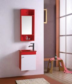 Small Bathroom Vanity Cabinet Furniture Bath Mirror Medicine